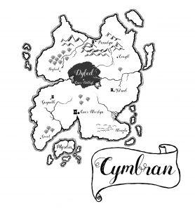 Kaart Cymbran de vrouwe van myrdin cathinca van sprundel